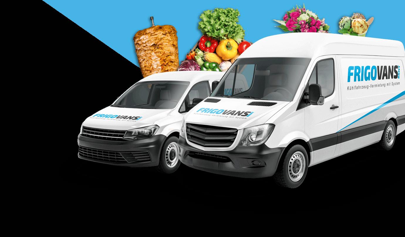 Kühlfahrzeug mieten mit Frigovans Rent - ob für den Transport von Döner, andere Fleischwaren, Blumen, Tiefkühlprodukte oder Gemüse - wir bieten Ihren Kühltransporter nach Maß und mit Nachhaltigkeit
